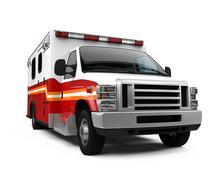 Ambulance Car Isolated - stock illustration