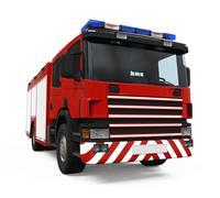 Fire Rescue Truck Stock Illustration