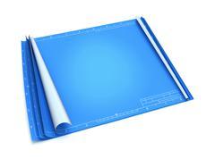 Empty blueprint - stock illustration