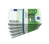 Stacks of 100 Euro Banknotes - stock illustration