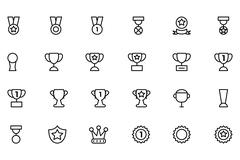 Award and Medal Vector Icons Stock Illustration
