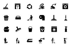 Cleaning Vector Icons Stock Illustration