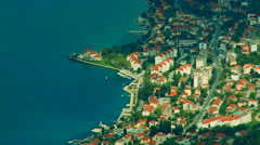 Adriatic coastal town and bay Kotor in Montenegro Stock Footage