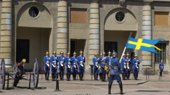 Divorce of the guard at the Royal Palace in Central Stockholm. Stock Footage