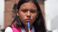 Student Concentrating  Thinking - stock footage