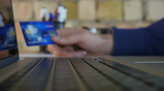 Keyboard Typing And Online Payment Stock Footage