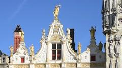 Civiele Griffie / old civil registrar at the Burg, Bruges, Flanders, Belgium Stock Footage
