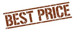 best price brown grunge square vintage rubber stamp - stock illustration