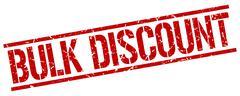 Bulk discount red grunge square vintage rubber stamp Stock Illustration