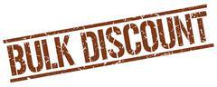 Bulk discount brown grunge square vintage rubber stamp Stock Illustration