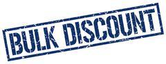 Bulk discount blue grunge square vintage rubber stamp Stock Illustration