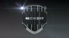 Archery - Chrome, Seamless looping 3D animation - stock footage