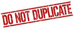 do not duplicate red grunge square vintage rubber stamp - stock illustration
