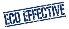 eco effective blue grunge square vintage rubber stamp - stock illustration