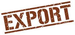 Export brown grunge square vintage rubber stamp Stock Illustration