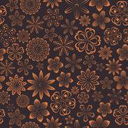 Floral seamless background, vector illustration. - stock illustration