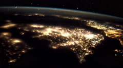 Planet Earth seen from the ISS. Elements of this video furnished by NASA. - stock footage