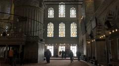 People praying blue mosque istanbul noon prayer Muslims Fatih Sultanahmet 4k Stock Footage