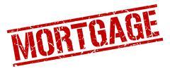 Mortgage red grunge square vintage rubber stamp Stock Illustration
