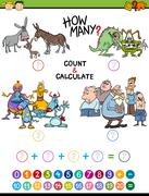Math educational activity for kids Stock Illustration