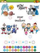 Math activity for children Stock Illustration
