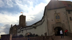 Wartburg Castle: Main entrance, Eisenach, Germany Stock Footage
