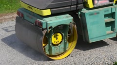 Road Roller On Repairing Of The Road Stock Footage
