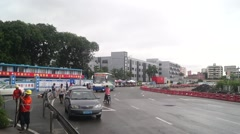 Nantou Shenzhen inspection station renovation project and traffic landscape Stock Footage