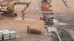 Nantou Shenzhen inspection station renovation project and traffic landscape Stock Footage