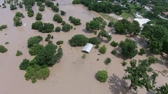 Aerial Footage - Memorial Day Floods Bastrop Stock Footage