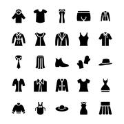 Clothes Vector Icons Collection Stock Illustration