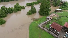 Aerial Footage - Bastrop TX Floods Stock Footage
