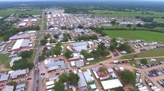 Aerial Footage - Enormous Antique Show Warrenton, TX - stock footage