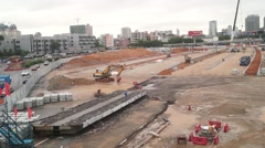 Nantou Shenzhen inspection station renovation project and traffic landscape - stock footage