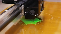 3D printer printing three dimensional figure - stock footage