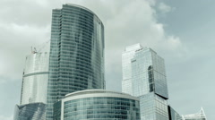 Business center Moscow-City, timelapse with remote Stock Footage