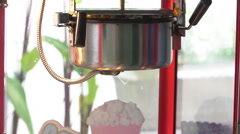 4K, A static shot of a commercial popcorn machine. Stock Footage
