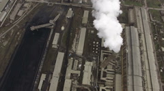 The Power Plant Pipe Which Is Par Stock Footage