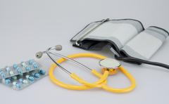 Medical equipment and medicine - stock photo