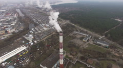 The Power Plant Pipe Which Is Par - stock footage