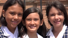 People Smiling Happy Students - stock footage