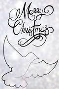 Composite image of Christmas message against a blurred background Stock Illustration