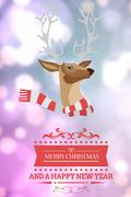 Composite image of Christmas message against a blurred background - stock illustration
