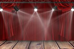 Composite image of an auditorium without people - stock illustration