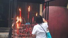 Shenzhen, China: Guan Yu Temple Stock Footage