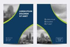 Vector brochure, flyer, magazine cover & poster - stock illustration