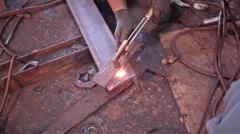 Ship repair Stock Footage
