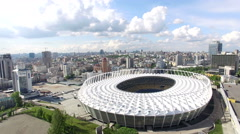 Top view of the Olympic Stadium Aerial Photo of the stadium. View from above Fo Stock Footage