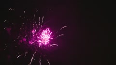 A celebratory fireworks in the night Stock Footage