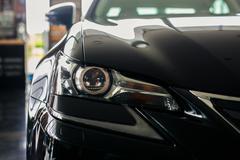 car looks menacing headlights - stock photo